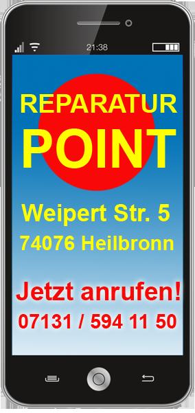Handy Reparatur Heilbronn Tel. 07131 / 594 11 50 bei Reparatur Point
